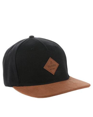 Globe Gladstone Snap Back Cap Black  2263c6af0cae