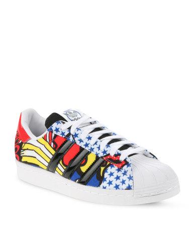 Adidas Superstar Degli Anni '80 Le Scarpe Da Ginnastica Multi - Zando