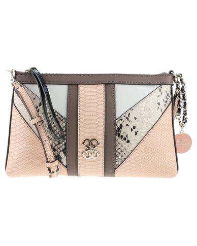 aeafbb9913d1 Guess Paxton Crossbody Clutch Bag Multi