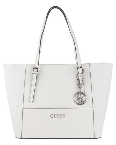 Guess Delaney Small Classic Tote Bag White  aab46b6f67019