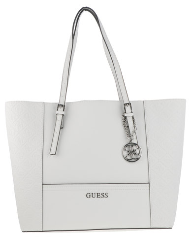5f20815553d Guess Delaney Medium Classic Tote White   Zando