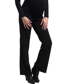 Cherry Melon Straight Leg Pants Black