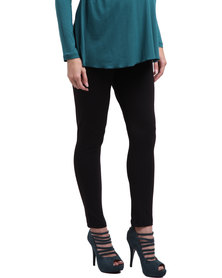 Cherry Melon Basic Leggings Black