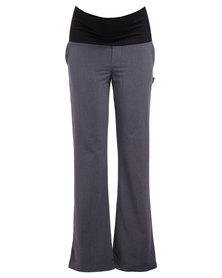 Cherry Melon Straight Leg Pants Grey