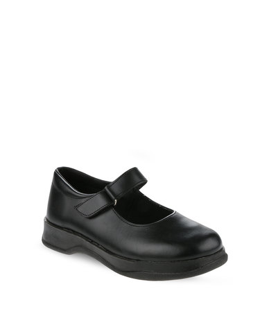 Toughees Ladies Prada School Shoes Black  b19a0f11f1