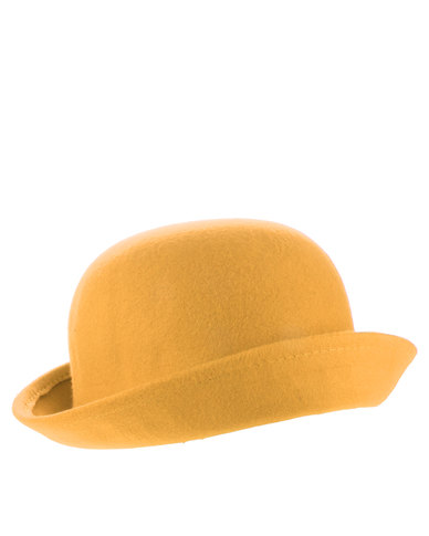 XOXO Chaplin Bowler Hat Mustard  3975b430a14