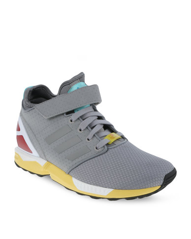 3446bfbc59f90 adidas ZX Flux NPS Mid Shoes Grey