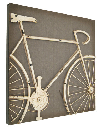 NovelOnline Metal Bicycle 3D Wall Art Brown