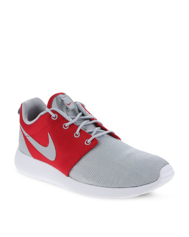 pretty nice 512ec e6ca7 Nike Roshe Run Men's Shoes Grey and Red
