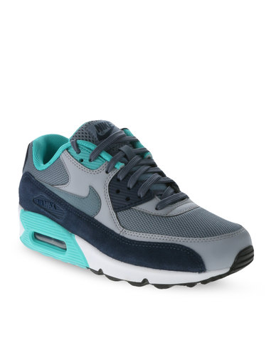 best service 4865a 2fca8 Nike Air Max 90 Essential Men's Shoes Blue and Grey
