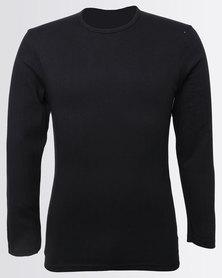 Jockey Long-Sleeve Undershirt Black