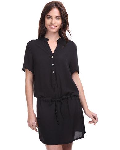 Assuili Drop Waist Dress Black