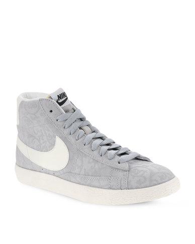 3fecbf741d3c9 Nike Blazer Mid Premium Vintage Hi-Top Sneakers Grey