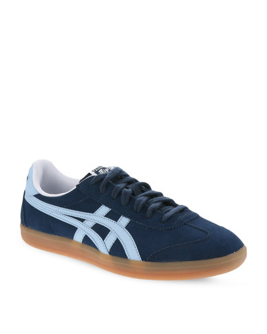 new concept 62888 c96a7 Onitsuka Tiger Tokuten Suede Sneakers Navy and Cerulean