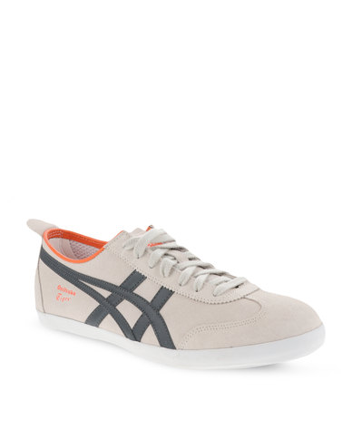 more photos 1876b 808b5 Onitsuka Tiger Mexico 66 Vulcanised Suede Sneakers Off-White and Dark Grey