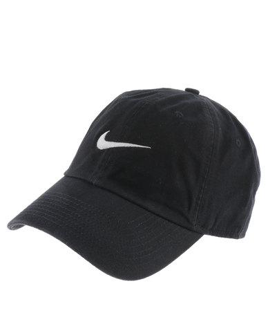 2bbee8b028a Nike Heritage 86 Swoosh Cap Black