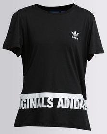 adidas Graphic Trefoil Tee Black