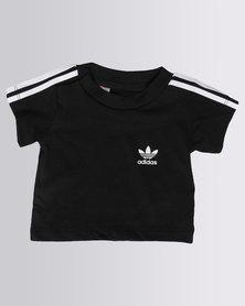 Adidas 3-Stripes Trefoil Tee Black