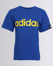 adidas Boys YB ESS Tee Blue