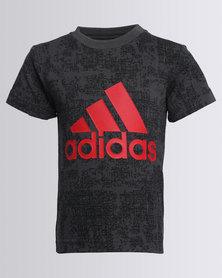 adidas Boys ESS AOP Tee Black