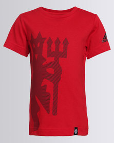 adidas Boys YB FC Tee Red