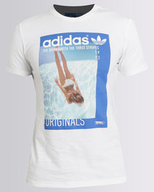 adidas Graphic Girl Tee White