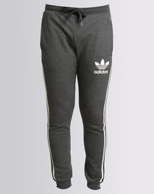 adidas Mens Clfn Track Pants Black and White
