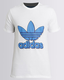 adidas Mens Tee With Trefoil White