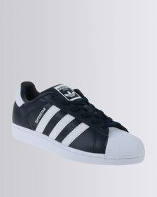 adidas Superstar Leather Sneaker Navy