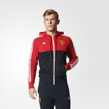 Manchester United 3-Stripes Hoodie