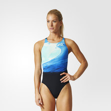 adidas allover graphic parley swimsuit