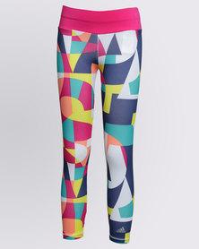 adidas Girls YG W F Tights Printed Multi