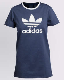 adidas Trefoil Tee Dress Blue