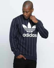 adidas Striped FT Crew Navy