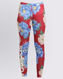 adidas Chita Rose Oriental Linear Leggings Multi
