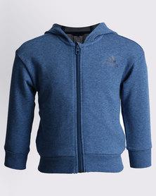adidas Linear Full Zip Hoodie Blue