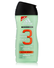 adidias Active Start Body Hair & Face Shower Gel 250ml