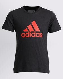 adidas Boys Logo Tee Black