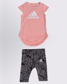 adidas Mini Me Girls Top & Legging Set Multi