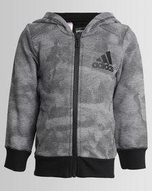 adidas Essential AOP Hoodie Grey