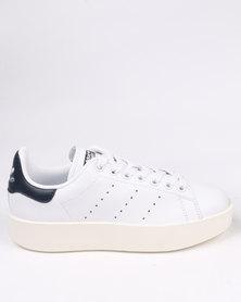 adidas Stan Smith Bold Womens White/Navy