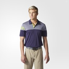 Heather 3-Stripes Polo Shirt