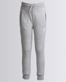 adidas Boys J FLE Trackpants Grey