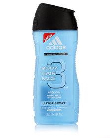 adidias After Sport Body Hair & Face Shower Gel 250ml