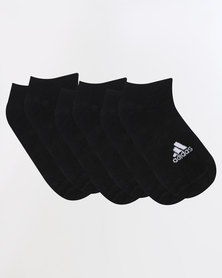 adidas Performance Unisex No Show 3P Black/White