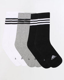 adidas Performance Men's 3s Knee HC 3pk Black/White/Grey