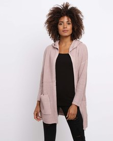 All About Eve On The Move Hooded Cardigan Pink