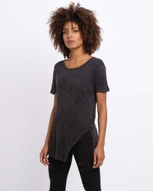 All About Eve Ashati Split T-Shirt Black