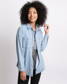 All About Eve About A Girl Shirt Denim Blue