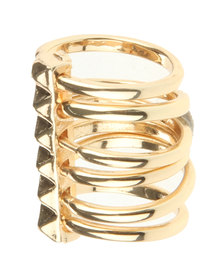 All Heart Multi Ring Gold-Tone
